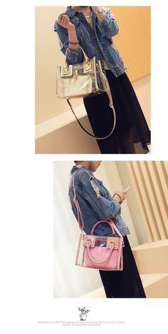 2016 новой сумка пляж плеча сумки Mobile Messenger Корейский мать и  прозрачная желе сумки сумка тенденция 608add83c22