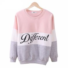 Different Letters Printed Sweatshirt