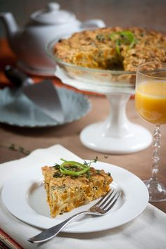Breakfast, Lunch or Dinner-Roasted Sugar Pumpkin & Collard Crustless Quiche (Oil Free, Vegan, Gluten-Free)