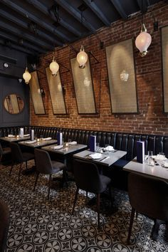 Jue Lan Club restaurant, designed by Dutch East Design. This space is located in the historic Limelight church rectory in NYC.