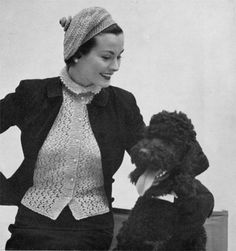 Every stylish woman knows a standard poodle is the ultimate accessory. Darn right!