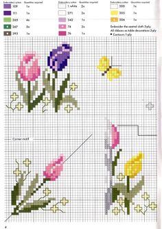 ♥Meus Gráficos De Ponto Cruz♥: Flores                                                                                                                                                                                 Mais