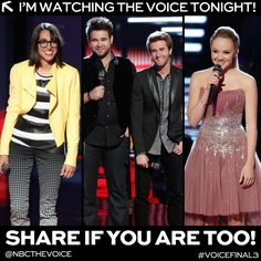 Tonight at 8/7c,the Final 3 perform and YOU decide who will become #TheVoice!