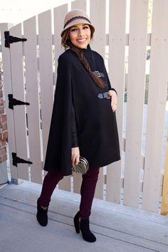 Winter Pregnancy Style: Maternity Cape» mychicbump mychicbump