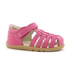 Sorbet Leather Sandal in Fuchsia by Bobux