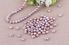 T-L958 Purple freshwater pearls,natural baroque pearls,30 pieces,jewelry making…