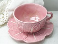 Pink cup - Faianças Artísticas Bordallo Pinheiro (Artistic Earthenware) was founded in 1884 - http://www.fabordalopinheiro.pt/