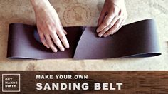 FLASH TIP: This is a new video section for small tips. I can't find pre-made sanding belts for my bench top sander with fine grits in Portugal so I started t...