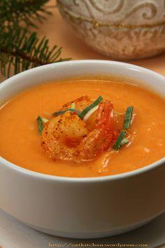 Supa crema de legume cu creveti