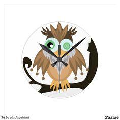 Pè Round Clocks #clock #bird #animals #funny #character #design #homedecor #homedesign #artist #cute #funny