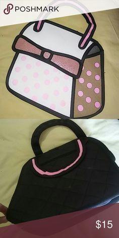 Novelty 3d flat handbag Inspired by jump from paper handbags. A little dusty from storage but otherwise fantastic condition. Bags