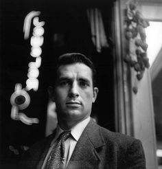 """Jack Kerouac in Times Square, New York, 1955, photo by Elliott Erwitt """
