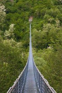 Il ponte sospeso a San Marcello Pistoiese