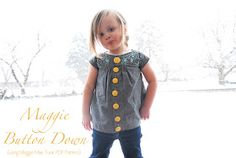 Shwin: Maggie Button Down {from Maggie Mae Pattern}