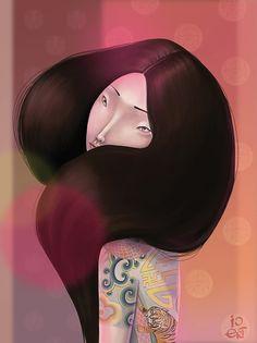 Tattooed Girls by Olga Ert #illustration