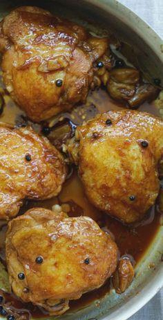 Chicken Adobo (The Best Homemade Recipe) - Rasa Malaysia filipino chicken thigh recipes Filipino Recipes, Asian Recipes, Filipino Food, Filipino Dishes, Chicken Adobo Filipino, Chicken Recipe Filipino Style, Mexican Chicken, Turkey Recipes, Dinner Recipes