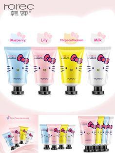 [Visit to Buy] Lovely Cartoon Cat Hand Cream Hello Kitty Whitening Anti-chapping Hand Cream 50g Hand Moisturizer Lotion #Advertisement