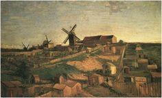 Painting, Oil on Canvas Paris: Autumn, 1886 Kröller-Müller Museum Otterlo, The Netherlands, Europe Van Gogh: View of Montmartre with Windmills Van Gogh Gallery