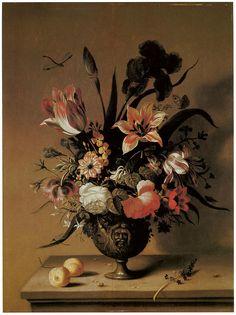 Ambrosius Bosschaert The Younger (1609 -1645) — Flowers In A Bronze Vase (674x900)