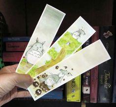 """My Neighbor is Totoro"" watercolor bookmarks"