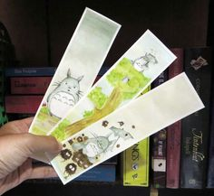 """My Neighbor is Totoro"" watercolor bookmarks"