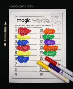 28 super fun word work activities for kids! Make words magically appear, write them upside down, play tic tac toe... tons of fun ideas!!