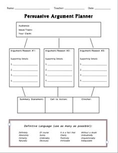 persuasive essay graphic organizer doc Persuasive essay – what to wear to school today read the introduction and writing prompt below when you have finished, brainstorm the issue in the space at the.