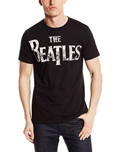 184fc87e3 Bravado Men's The Beatles Vintage Logo Black T-Shirt, Black, Small Short-sleeve  tee featuring banded crew neckline and Beatles graphic at front