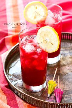 Lemon Hibiscus Soda Refreshing Cocktails, Easy Cocktails, Summer Cocktails, Fun Drinks, Yummy Drinks, Cocktail Recipes, Beverages, Popular Cocktails, Sweet Cocktails