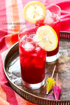 Lemon Hibiscus Soda