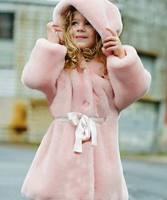 Take a look at this Pink Mink Faux Fur Sash Coat - Infant, Toddler & Girls by Donna Salyers' Fabulous-Furs on today! Fashion Kids, Fur Fashion, Baby Girl Fashion, Toddler Fashion, Cute Girl Outfits, Kids Outfits, Fabulous Furs, Kind Mode, Kids Wear
