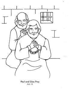 Paulo and silas coloring pages ~ PAUL & SILAS IN PRISON !!! on Pinterest   Prison, Coloring ...