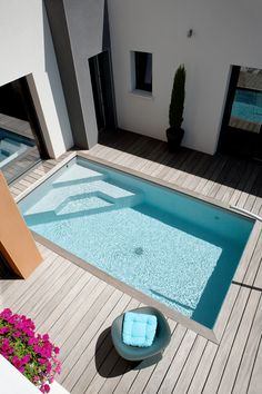 Caron Piscines | Piscine enterrée en béton Mini-piscine