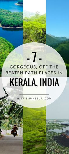 Kerala is a gorgeous travel destination India. And while the things to do there are well known, here are SEVEN lesser known, off the beaten path places that you'll fall in love with!