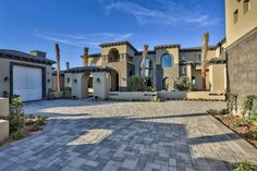 Mediterranean-Transitional Estate by I PLAN, LLC - Front Elevation/View