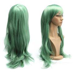 カラーカールロング  70cm  ウィッグ (緑色) [並行輸入品] Dazone http://www.amazon.co.jp/dp/B00Z086ZNI/ref=cm_sw_r_pi_dp_i.VRvb1NSW73D