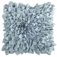 Floral Bloom Pillow - Smoke Blue  Pier One $20 clearance