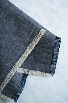 Corinne's Thread: Fringed Chambray Napkins