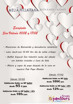 Melia Villaitana **** (Benidorm, Alicante, Costa Blanca, España) ---- Especial SAN VALENTIN 2018 ----> 10 y 17 de febrero ---- Doble en MP, desde 85 € por persona ---- Resto condiciones de esta oferta en www.opentours.es ---- Información y Reservas en tu - Agencia de Viajes Minorista - ---- #hotelmeliavillaitana #meliavillaitana #melia #solmelia #benidorm #alicante #costablanca #sanvalentin2018 #escapadas #paquetes  #hoteles #vacaciones #estancias #ofertas #actividades #familias #niños…