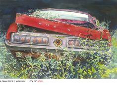 A Classic SHE B, 17 x 25, watercolor on paper. Artist: Tony Armendariz. www.armendarizart.com