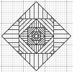 Diseño fractal en un bordado