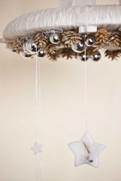 Natale Corona  lampadario ghirlanda  Natale mobile di florasense, $80.00
