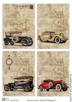 Купить или заказать Декупажные карты 'Men & Vintage' от Base of Art в интернет-магазине на Ярмарке Мастеров. Коллекция декупажных карт февраль 2016. Эксклюзивный дизайн, специально для 'Base of Art'.