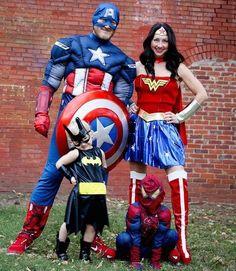 Captian America Family cool Halloween 2016