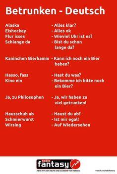 Betrunken - Deutsch. Übersetzungshilfe