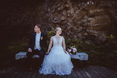 Intimate Wedding at Games of Thrones shooting location Hjalparfossar in South Iceland