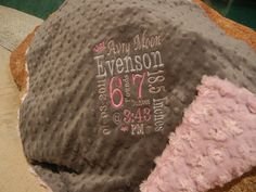 Personalized Baby Stats Baby Blanket $39.00