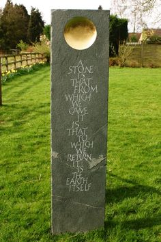 Standing Stones | Martin Cook Studio Memorial Stones, Memorial Ideas, Tombstone Designs, Stone Masonry, Stone Crafts, Stone Sculpture, Letter Art, Stone Carving, Abstract Sculpture