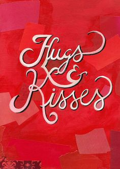 We Love Typography: Darren Booth Hand-lettering & Illustration Love Is All, True Love, Just For You, Hugs N Kisses, Love Hug, Happy Valentines Day, Love Heart, Decir No, Hand Lettering