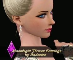 Moonlight Flower Earrings by Ladesire - Sims 3 Downloads CC Caboodle
